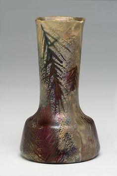 Clément Massier (1844-1917) & Lucien Lévy-Dhurmer (1865-1953), Iridescent Glazed Decorated Ceramic Vase.
