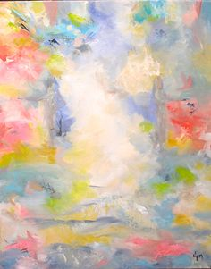 INTO THE CLOUDS by Vicki P. Maguire OIL w WAX ~ 30 x 24