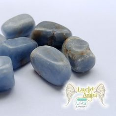 Natural Angelite Tumbled Stone x 2  Price: & FREE Shipping   #crystals