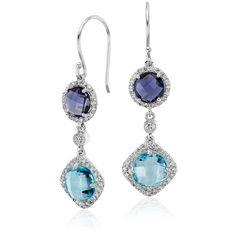Robert Leser Robert Leser Multicolor Gemstone Confetti Earrings ($1,675) ❤ liked on Polyvore featuring jewelry, earrings, jewelry sets, gem earrings, gemstone earrings, multi color gemstone earrings, multi colored gemstone earrings and halo diamond earrings