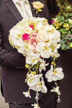 Trailing Bridal Bouquet - FLORA NOVA DESIGN SEATTLE