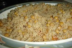 channa pulao - chickpea with rice Peas Pulao Recipe, Dal Fry, Spiced Rice, Recipe Link, Recipe Recipe, Rice Dishes, Savoury Dishes, Macaroni And Cheese, Spicy