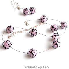 My lampwork beads, sterling silver