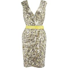 Quartz Sequin Dress ❤ liked on Polyvore