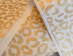 Cheetah in Metallic Gold Print Quilting by AACottonCreations