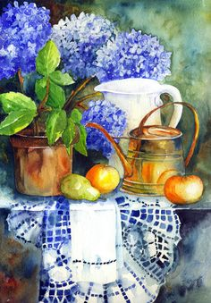 Aquarelle Akril ... L'artiste Yvonne Harry.