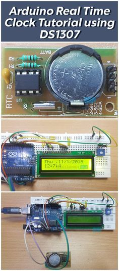 Arduino Real Time Clock (RTC) Tutorial using - Arduino Projects - Electronic Engineering, Electrical Engineering, Diy Electronics, Electronics Projects, Electronics Components, Drones, Real Time Clock, Arduino Programming, Arduino Projects