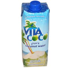 Vita Coco, Pure Coconut Water, 16.9 fl oz (500 ml) - iHerb.com. Bruk gjerne rabattkoden min (CEC956) hvis du vil handle på iHerb for første gang. Da får du $5 i rabatt på din første ordre (eller $10 om du handler for over $40), og jeg blir kjempeglad, siden jeg får poeng som jeg kan handle for på iHerb. :-)