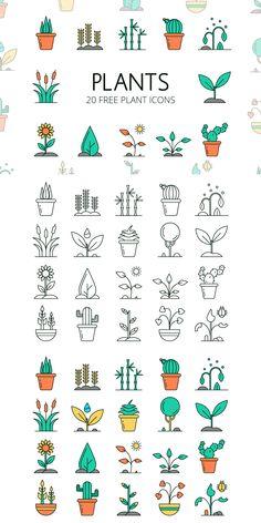 Plants Vector Free Icon Set - GraphicSurf.com