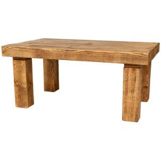 Crafted from some very chunky solid wood, including a 3 inch thick rustic table top. Handmade in the UK with FREE UK DELIVERY!