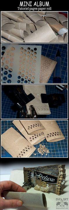 The Craft Barn: Mini album week - Isa  Would I dare show anyone my toilet paper holder album???