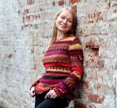 Купить Улыбнись))) - вязаная кофточка, теплая кофточка, Яркая одежда, осень 2013, koluchka, noro