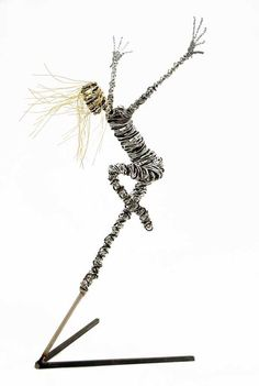 Junction Art Gallery - Rachel Ducker Wire Dancer on Stand  This would look awesome 3Doodled!  www.the3doodler.com  #3Doodler #Art