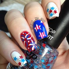 Mix and Match 4th of July Nails