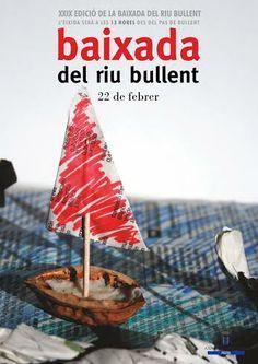Cartel de la Baixada del riu Bullent 2014 Html, Events, Snood, Footprint, Laughing, Carnivals, February 22, Natural Playgrounds, Poster