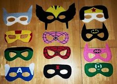Avenger & Justice League Party Masks  20% by CustomBannersbySarah