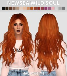 Newsea Wild Soul recolors at Hallow Sims via Sims 4 Updates Check more at http://sims4updates.net/hairstyles/newsea-wild-soul-recolors-at-hallow-sims/