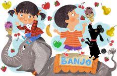 John Nez Illustration -Elephant Kids