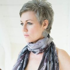 #shortgreyhair                                                                                                                                                                                 More