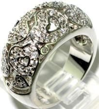 SPARKLING WHITE TOPAZ 2 CTW HEART RING~SOLID 925 SS~SZ.6! DOORBUSTER SALE! WOW! HURRY! $49.99