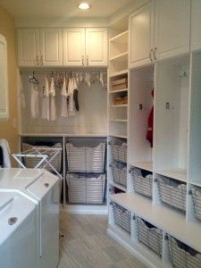 laundry room with fabulous organization and hanging room