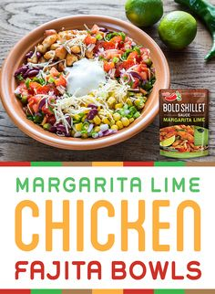 Cook up chicken fajitas using Chili's® Margarita Lime Bold Skillet Sauce for dinner and use the leftovers to make lunch bowls the next day. Chili's® Sauces are available in leading grocery aisles nationwide.