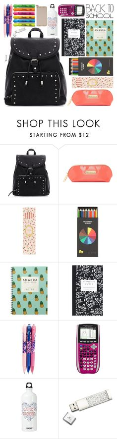 """""""Whats in my Backpack? School Edition"""" by naomimjc ❤ liked on Polyvore featuring interior, interiors, interior design, home, home decor, interior decorating, Steve Madden, Ladurée, Polite and Dot & Bo"""