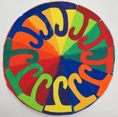 SINKING SPRINGS ART: COMPLEMENTARY COLOR WHEELS - 5th Color Wheel Lesson, Color Wheel Projects, Color Wheel Art, Complementary Color Wheel, Color Art Lessons, 7th Grade Art, School Art Projects, Art Lessons Elementary, Spring Art