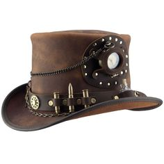 Full grain, smooth leather, American made masterpiece. This topper is fully equipped for all situations a time-traveler may face. The hand-tooled band holds six cartridges, two elixir bottles, and a t