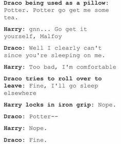 I feel like I'm obsseed with drarry fluff Harry Potter Comics, Draco Harry Potter, Harry Potter Feels, Harry Potter Ships, Harry Potter Universal, Harry Potter World, Draco Malfoy Quotes, Drarry Fanfiction, Wolfstar
