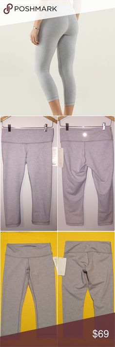 New with tags Lululemon wunder under crops Brand new with tag still attached Lululemon wunder under crops, light gray color, perfect condition, size 8, super cute, no longer in stores, see tag picture for details. Bundle to save ❤️ lululemon athletica Pants Ankle & Cropped