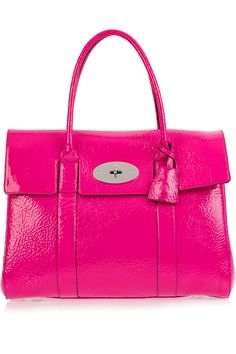 Hot pink Mulberry Bayswater patent-leather bag  £766
