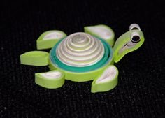 paper quilling green turtle by jennysh_who, via Flickr