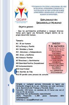 Diplomado en Desarollo Humano Xalapa, Veracruz, pospuesto al 3 de octubre 20014 No hay un teléfono para solicitar detalles