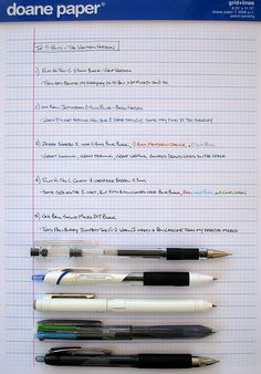 Top 5 Pens - The Written Version