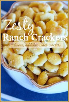 Zesty Ranch Crackers, addictive and scrumptious little snacks! 3 ingredients! http://i-recipes.net/