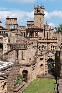 La Scarzuola, also known as the Città Buzziana, began as a convent which has been transformed into a mad collection of buildings embellished with artwork and sculpture