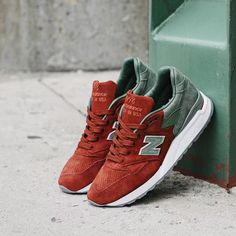 """Temporary Post.  The New Balance 998BMG x Concepts. This is the Boston Red Sox half of the """"City Rivalry"""" Pack.  @NewBalanceZA @Xtrendstore #NBCityRivalrySA."""