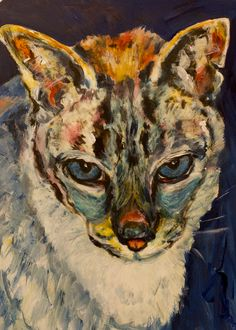 Mr. B, 2014. (Acrylic, 5 x 7) Pets, Painting, Animals And Pets, Painting Art, Paintings, Paint, Draw