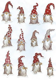 gnomes crafts how to make ~ gnomes crafts . gnomes crafts how to make . gnomes crafts for kids . Christmas Rock, Christmas Gnome, Christmas Holidays, Christmas Decorations, Christmas Ornaments, Illustration Noel, Rock Art, Elves, Holiday Crafts