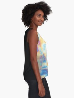 """Holographic colorful oily marble pattern"" Sleeveless Top by artsome-design 