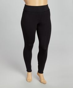 Look what I found on #zulily! Black Audrey Leggings - Plus #zulilyfinds