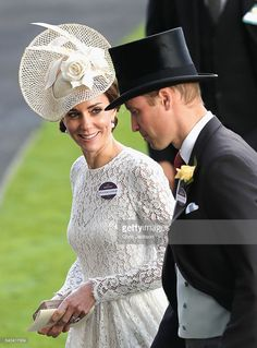 Prince William, Duke of Cambridge and Catherine, Duchess of Cambridge attend the second day of Royal Ascot at Ascot Racecourse  on June 15, 2016 in Ascot, England.  (Photo by Chris Jackson/Getty Images)