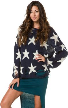 WILDFOX SEEING STARS SWEATER http://www.swell.com/Womens-Sweaters/WILDFOX-SEEING-STARS-SWEATER?cs=NV#