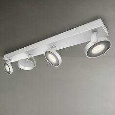 Buy Philips myLiving Clockwork LED 4 Spotlights, Silver Online at johnlewis.com
