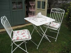 Shabby chic garden chairs by RubyRed06, via Flickr