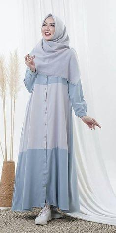 Abaya Fashion, Muslim Fashion, Fashion Wear, Fashion Outfits, Baby Girl Dress Design, Fancy Dress Design, Hijab Evening Dress, Hijab Style Dress, Modele Hijab
