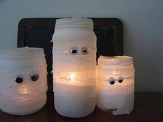 Mummy Jars...I think I will put some of these out for our trick or treater's