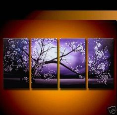 Plum Blossom In Full Bloom Abstract Hand Painted Oil Painting On Canvas Wall Art Deco Home Decoration (Unstretch No Frame) Multi Canvas Painting, Abstract Canvas Art, Canvas Wall Art, Abstract Oil, Artwork Wall, Abstract Paintings, Casa Art Deco, Art Deco Home, Great Paintings