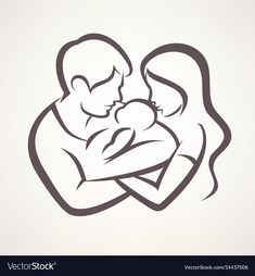and baby silhouette Vector: happy family stylized vector symbol, young parents and baby Vector: happy family stylized vector symbol, young parents and baby Art Drawings For Kids, Art Drawings Sketches Simple, Pencil Art Drawings, Mom Baby Tattoo, Baby Tattoos, Baby Silhouette, Silhouette Frames, Family Drawing, Baby Drawing